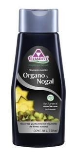 Shampoo Organo Y Nogal Matiza Oscurece Canas 100%natural