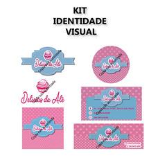 Kit Identidade Visual (logo, Cartão De Visita, Adesivo, Capa