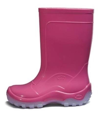 Galocha Bota Nieve Rosa Pink Infantil Top Italbotas