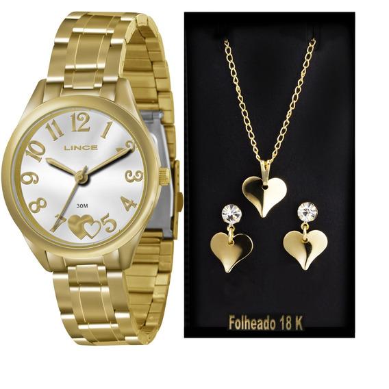 Relógio Lince Lrg4290l K117s2kx + Kit Semijóia