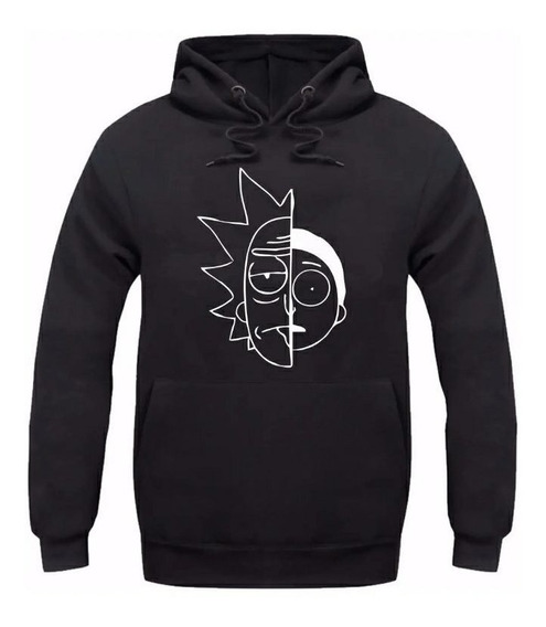 Moletom Masculino Rick And Morty Mod2 Blusa De Frio Canguru