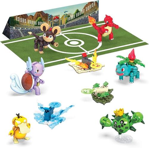 Mega Construx Pokémon Fondo De Estadio + 6 Figuras