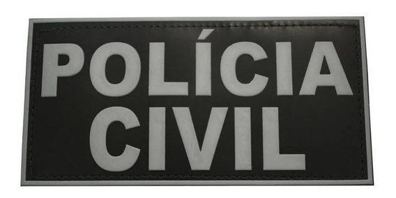 Emborrachado Polícia Civil Costas Para Colete Tático