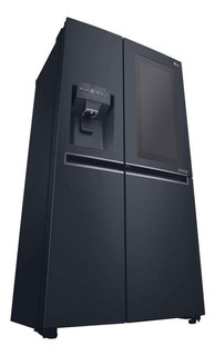 Heladera inverter no frost LG GC-X247CKBV mate black steel 601L