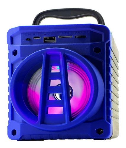 Caixa de som Grasep AL-301 portátil com bluetooth azul
