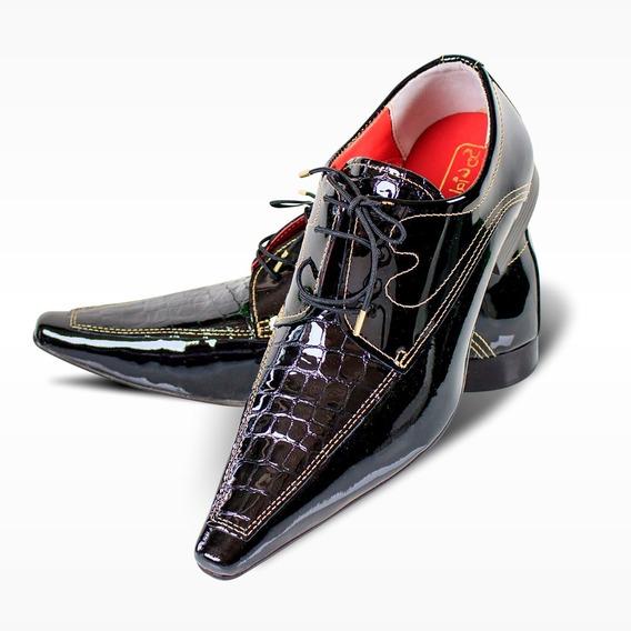 Sapato Social Luxuoso De Couro Preto - Premium (ref. 614)