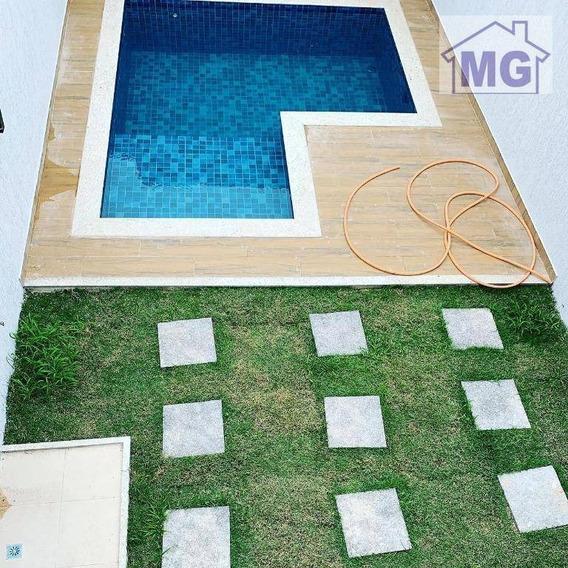 Casa Com 3 Dormitórios À Venda, 140 M² Por R$ 580.000 - Lagoa - Macaé/rj - Ca0255