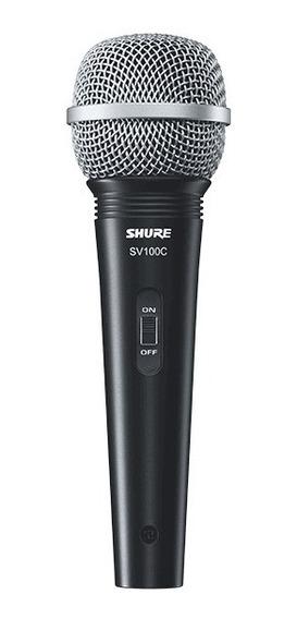 Microfone Profissional Shure Sv100 Unidirecional Com Fio