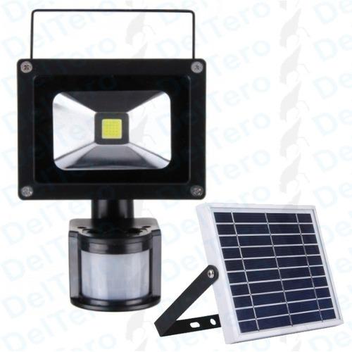 Foco Led 10 Watts Con Panel Solar Y Sensor De Movimiento
