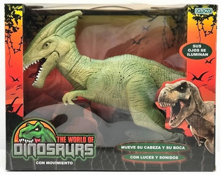 Dinosaurio Grande Con Luz Sonido Y Movimiento 34cm Cuota!