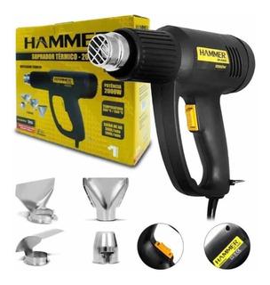 Soprador Térmico 1700w 350 A 550ºc + 4 Bicos Hammer-gysp2000