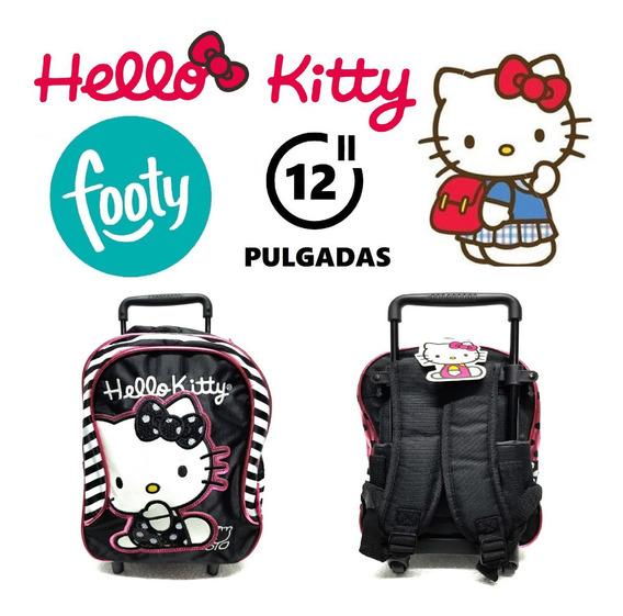 Mochila Hello Kitty De Carrito Para Jardin Original Footy