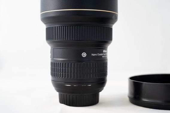 Lente Nikon 14-24mm F2.8g Com Adaptador E Filtro Quadrado