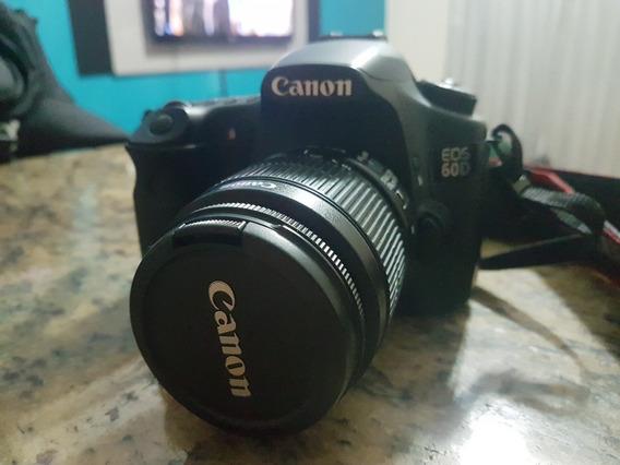 Câmera Canon 60d ,com Lente Do Kit 18 55