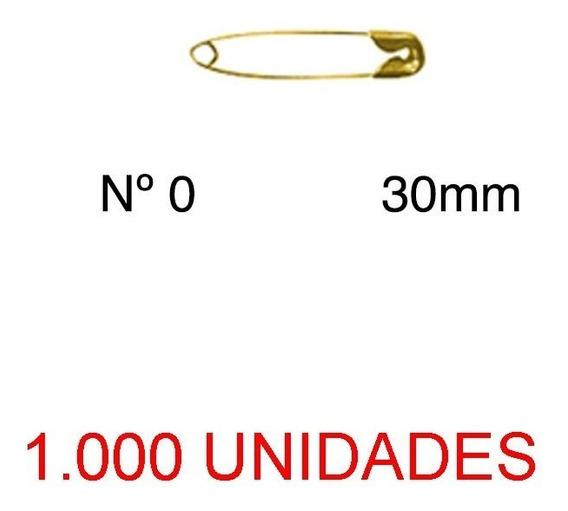 Alfinete De Segurança Nº 0 Dourado 27mm 1000 Unidades