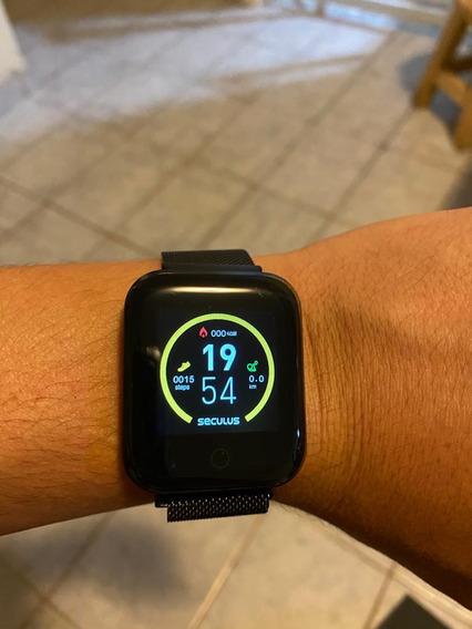 Relógio Seculus Smart Malha De Aço Preto - 3 Meses De Uso