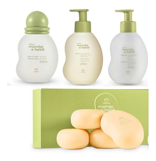 Colonia Mamãe Bebê + Shampoo + Condicionador + 4 X Sabonetes