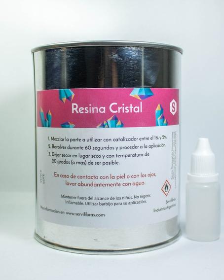 Resina Poliester Cristal 1kg+catalizador