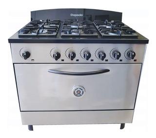 Cocina Industrial Depaolo 6 Hornallas 90 Cm