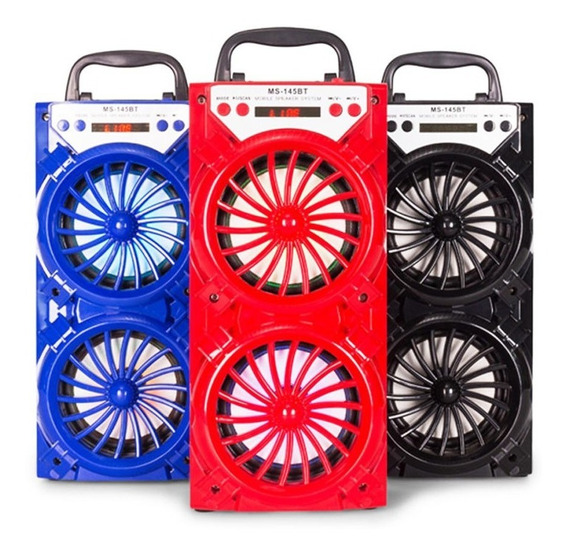Caixa Som Bluetooth Led Mp3 12w Rádio Usb Sd Frete Grátis