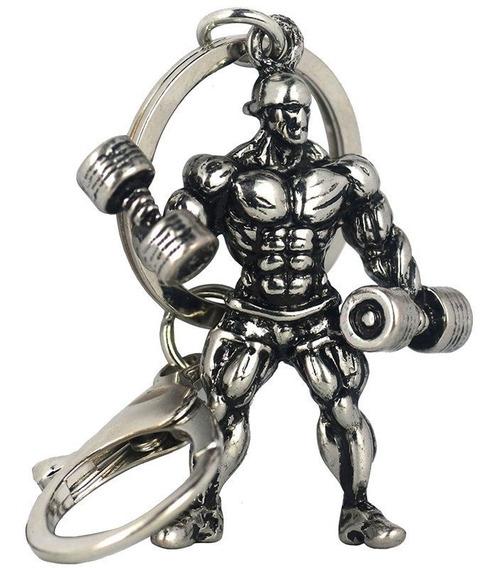 Chaveiro Halteres Musculação Aço Inox Levantamento De Peso