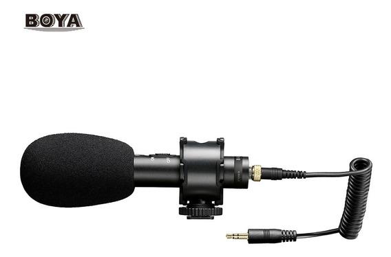 Microfone Dslr Canon Nikon Sony Condensador Boya By-pvm50 - Somos Revenda Autorizada