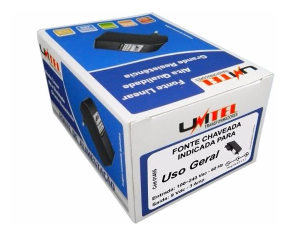 Fonte Chaveada 9vdc 3a Plug 2.1mm Unitel 1455