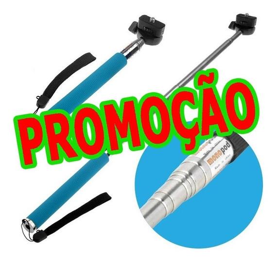 Pau Bastão Selfie Kit Monopod + Controle Bluetooth Celular
