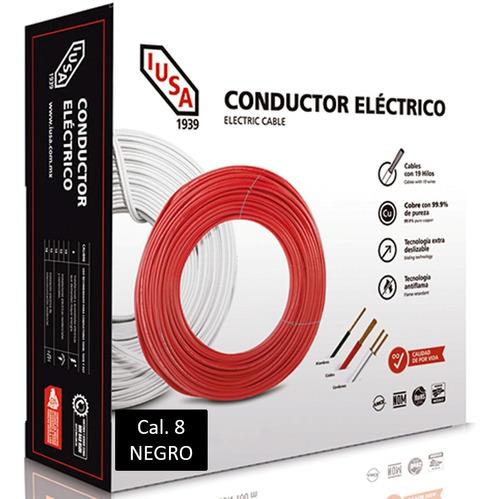 Caja 100 Mts Cable Iusa Negro Thw Cal 8 Awg 100%cobre