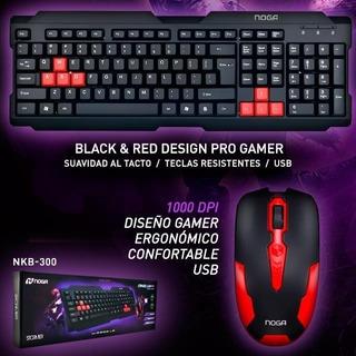 Combo Gamer Nkb-300 Kit Teclado Y Mouse Noga