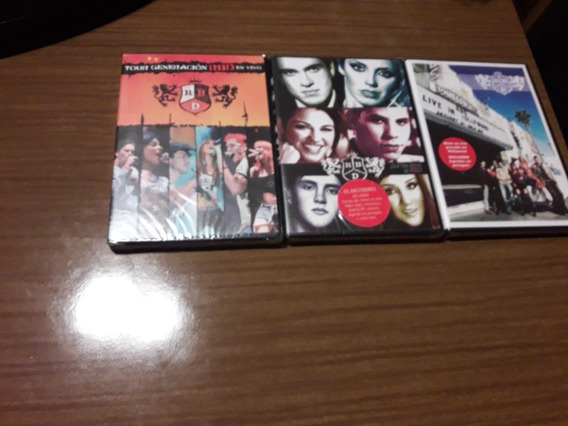 Box 3 Dvd Rbd Tour Generacion. Live In Hollywood.que Hay Det