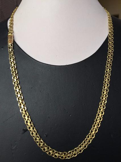 Colar Italiano Em Ouro 18k-750 Peso: 22.3g Tam 54cm