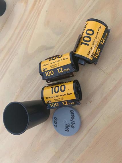 3 Filmes Kodak 100 12 Poses ( Vencido 4/2010)