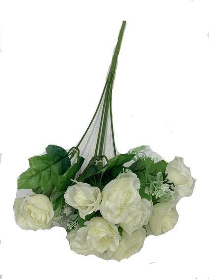 Ramo Rosas Flor Artificial Pimpollo X 6