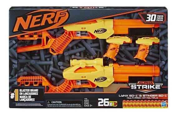 Lançador Nerf Alpha Strike Multi Big Box - Hasbro E7580