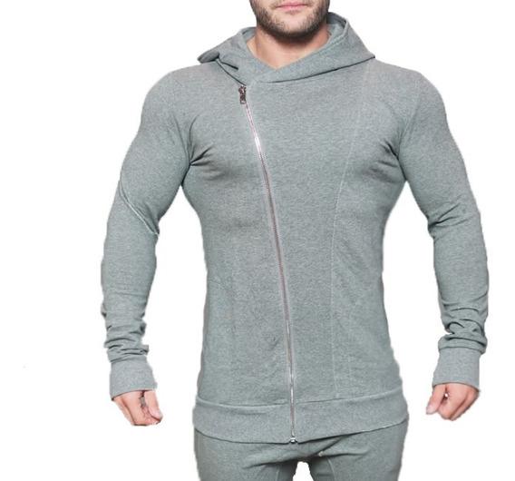 Blusa De Moletom Masculina Casaco De Frio Com Ziper E Capuz