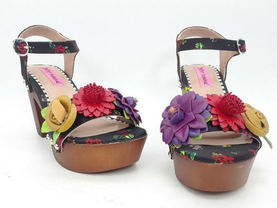 Betsey Johnson Rosee Zuecos Multicolor Talla 22 Mex