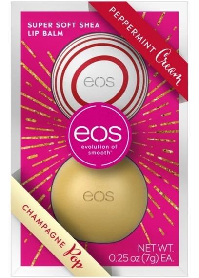 Kit Eos Lip Balm Com 2 Sabores - Edição Limitada Especial