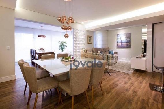 Apartamento Decorado E Lindo Com 4 Dormitórios À Venda, 122 M² Jardim Das Indústrias - São José Dos Campos/sp - Ap2518