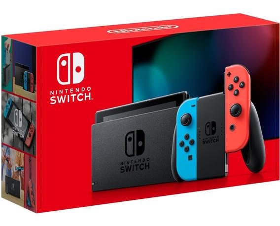 Console Nintendo Switch 32 Gb Neon + Bateria Extendida