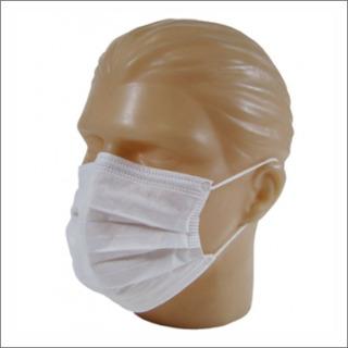 Mascara Descartável Tripla C/ Elástico Branca 2 Pct C/ 50uni
