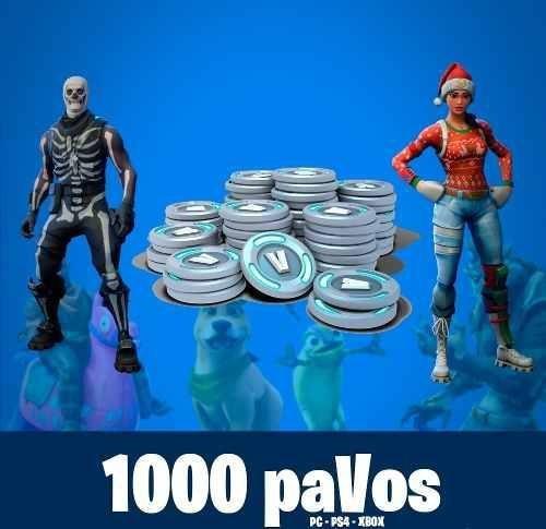 1000 Pavos Fortnite Ps4 Pc Xbox