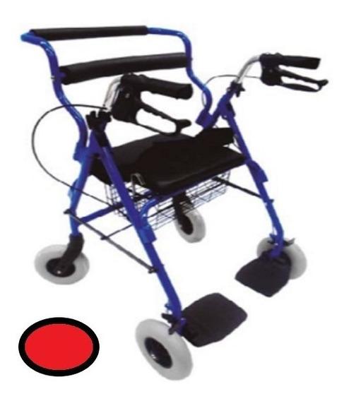 Andadera Rollator Hibrida Con Descansapies Envio Gratis
