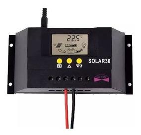 Controlador De Carga Pwm 30a - 12/24v - Energia Solar