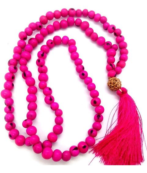 Japamala Semente Açaí Rosa Pink C/ 108 Contas Ho