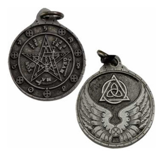 Talisman Tetragrammaton De Pewter Acabado Plata.