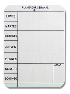 Tablero Planeador Semanal 40 X 30 Cm Artecma Formica Blanca