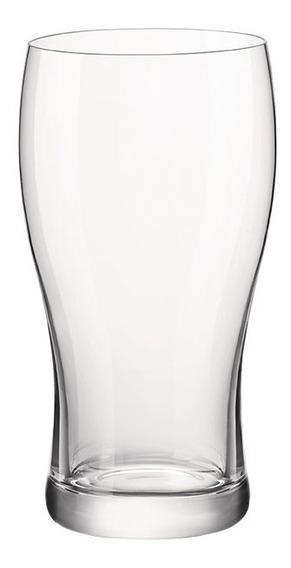 Set X6 Vasos Cerveza Vidrio Pinta Stout Irish Bormioli 568cc