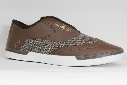 Imagen 1 de 4 de Tenis Zapato Casual Confort Para Hombre Polo Club Café