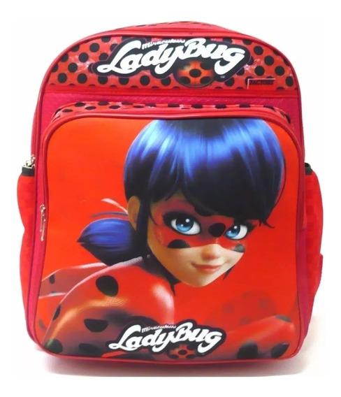 Mochila Escolar Infantil Super Bug Lady Costas Tam G F4